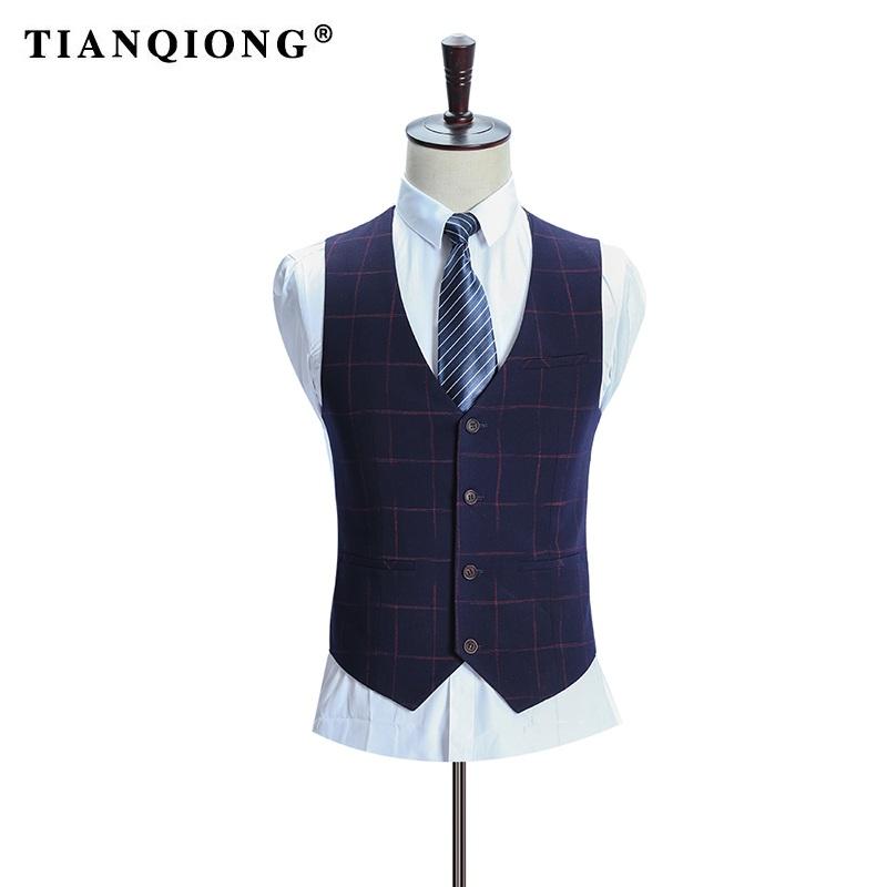 HTB1AOA3SXXXXXcGaXXXq6xXFXXX0 - TIAN QIONG Brand Plaid Suit Men 2017 Slim Fit Mens Formal Wear Male Business Suits High Quality 3 Piece Groom Wedding Suit S/3XL