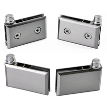 1Set Zinc alloy Glass Door Clip Wine Cabinet Glass Door Clamp Rotate Shaft Display Cabinet Hinge Up and Down Hinges Rotate shaft(China)