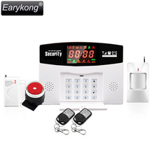 English /Russian /Spanish Voice GSM Alarm System Wireless 433MHz, Built-in Relay Support Extra Device Control, Smoke Fire Alarm