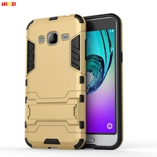 LELOZI For Samsung Galaxy J1 Ace J5 J7 J120 2016 With Stand Silm Hybrid Duty Armor Shield Case TPU + PC Back Cover Protective(China)