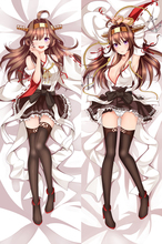 Anime Cartoon Kantai collection Kongo Sexy Adult Double Bolster Hugging Pillow Case Cover(China)