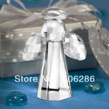 100pcs/lot Choice Baptism party favors Crystal gifts Angel Figurines Indian Wedding Return Gifts for Guests