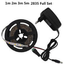 NEW 1M 2M 3M 5M LED Strip Light SMD2835 RGB TV Led 12V DC pull LED Reel Light Diode Tape Ultra Bright LED Lamp Ribbon Flexible