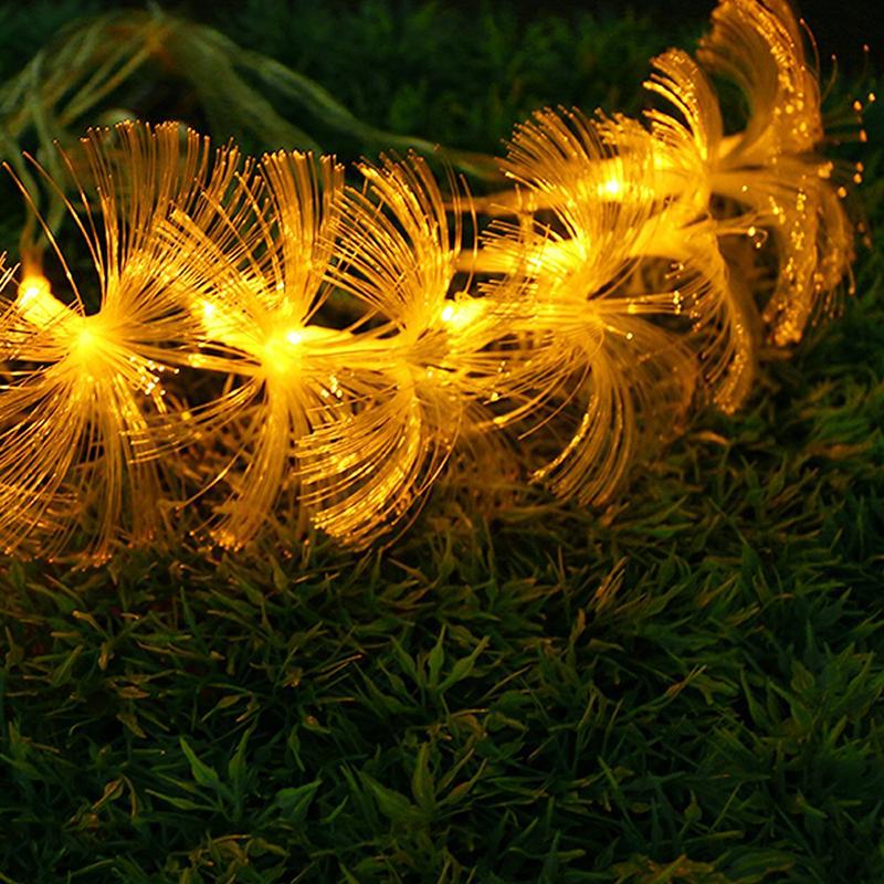 AC110V/220V 10M 100 LED Fiber Optic String Light Twinkle Light Strip for Christmas Garden Wedding Party  holiday Decoration