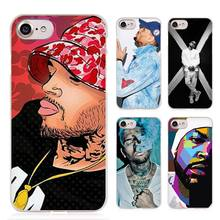 Chris Brown Breezy RNB Clear Cell Phone Case Cover for Apple iPhone 4 4s 5 5s SE 5c 6 6s 7 7s Plus
