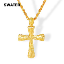 SWATER fashion Cross Jesus Men Necklaces Silver Plated/Gold color  Women Pendants Metal Alloy Religious Christian Jewelry