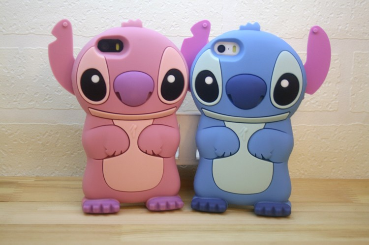 10 pcs/lot Cute 3D Stitch Case For Coque iPhone 4 4s 5 5s 6 6s 6plus 7 7 Plus Cases Silicone Back Covers Carcasa Luxury Capinha(China (Mainland))