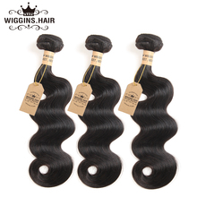 Wiggins 100% Human Hair Bundles Malaysia Body Wave non Remy Hair Weave Natural Black 1 Piece Only 8-30 inch Free Shipping(China)