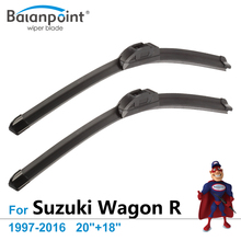 "Wiper Blades For Suzuki Wagon R 1997-2016 20""+18"", Set of 2Pcs, Top Rated Windshield Wipers"