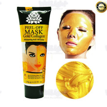 120g/Bottle 24K golden mask Collagen Anti wrinkle face pack Anti aging facial mask for skin care face lifting firming Wholesale