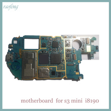 Raofeng well work Motherboard for Samsung galaxy s3 mini i8190 unlocked with android system mainboard with chips logic board(China)