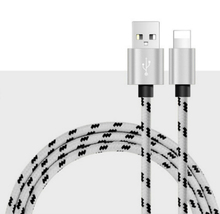 1/1.5/2m Long braided nylon 8 pin phone power charging charger date sync line rope wire cord cable for iPhone 5 5s 6 6s 7 plus
