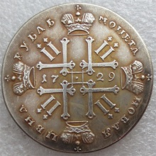 1729 Russia 1 Rouble Ruble Peter II Copy Coins Free Shipping metal craft dies manufacturing factory(China)