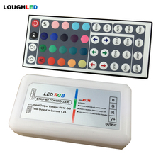 Wireless RF 44KEYS RGB LED Controller with remote DC12V~24V 12A(3*4A) 144W led controller for RGB LED Strip
