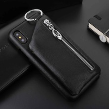 Buy Coque Capa iPhone X Case Cover Fashion Design Premium Genuine Leather Phone Case iPhone X Pocket for $14.24 in AliExpress store