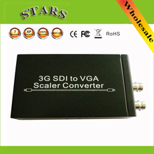 3G SDI to VGA Scaler Converter Audio Video SDI to VGA with power adapter For CCTV PC Video,wholesale free shipping dropshipping