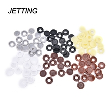 JETTING Hot 10pcs/lot Hinged Plastic Screw Cover Cap Fold Snap Caps For Car Home Furniture Decor
