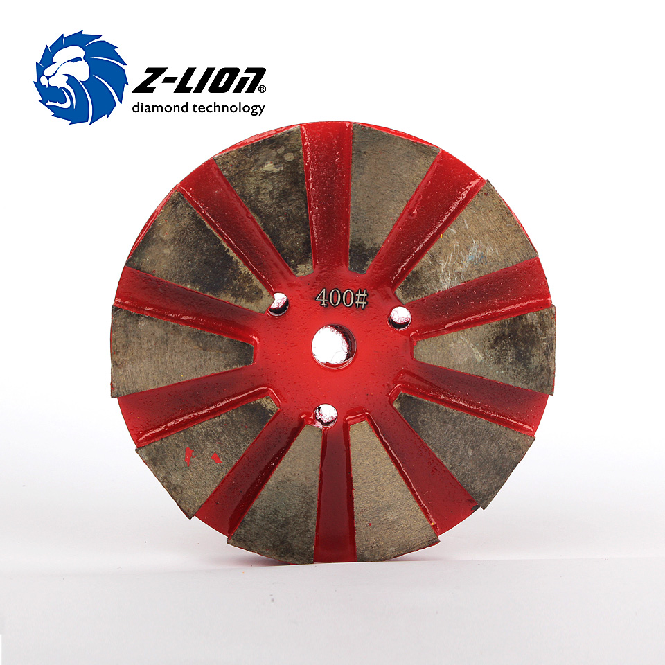 Z-Lion 4 Inch 100mm Metal Polishing Pads Diamond Concrete Grinding Pads For Marble And Concrete Floor Metal Bond Polish<br>