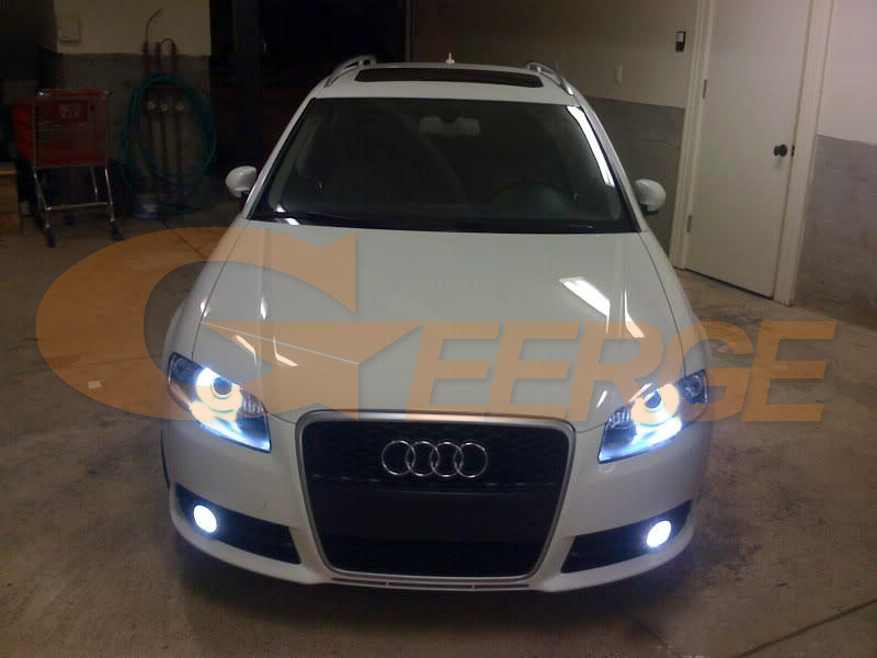 Audi A4 S4 RS4 2005 2006 2007 2008 2009 Xenon headlight COB led angel eyes(3)