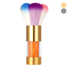 Colorful Nylon Hair Nail Dust Brush Nail Art Dust Remover Brush Makeup Foundation Powder Brush Multifunction 2017 top sell(China)