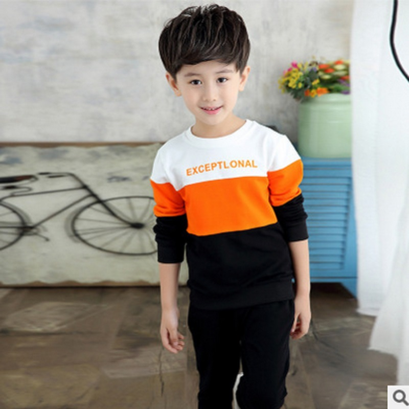 Boys Clothing Sets Spring and Autumn 2017 New  Kids Clothes Sports Sets Childrens Clothing Sets 2 Colors 2 Peice Size6-14 ly161<br>