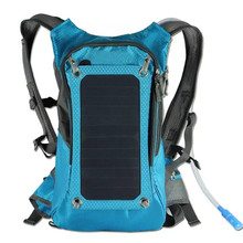 KUNDUI High quality 5V Solar Panel Battery Charging Business Travel Backpacks Tourism Bags USB Output Charger Backpack Bag(China)