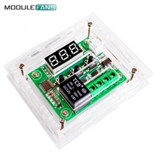 Clear Acrylic Case Shell Housing For W1209 Digital LED DC 12V Temp Thermostat Temperature Control Switch Module Controller Board