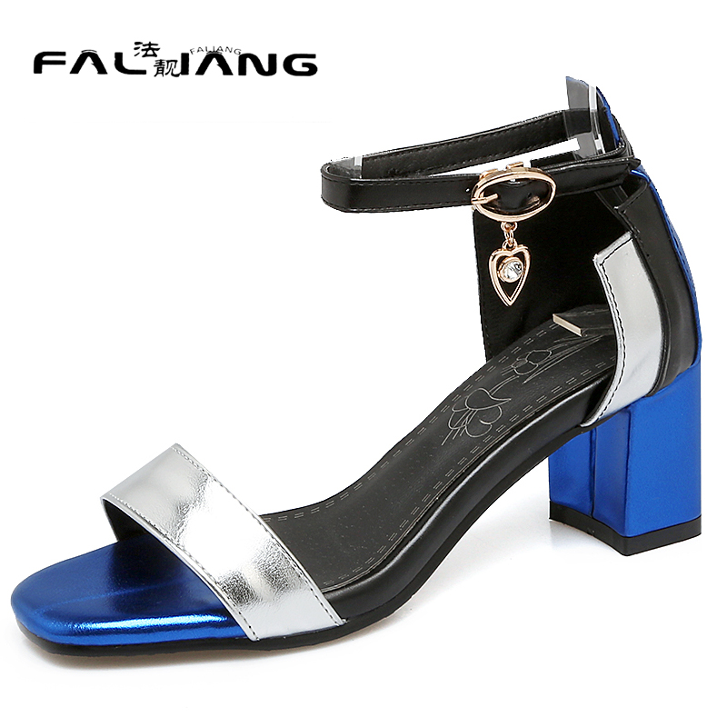 Summer Concise Metal Decoration Crystal Falling beads Cover Heel Shallow High Heels Mixed Colors Fish mouth Ladies sandals<br>