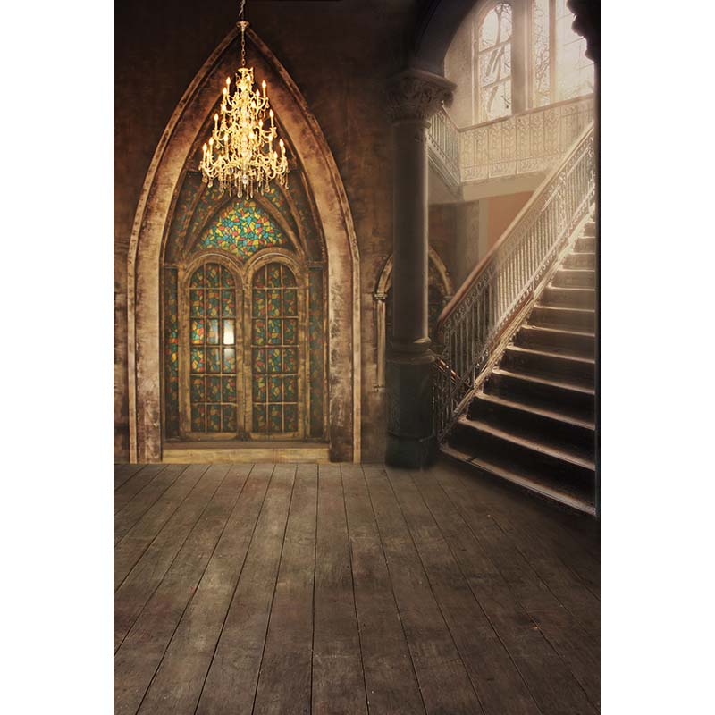 Gothic style builing background family photo shooting vintage photo backdrops for photo studio props fotografia CM-4837<br>