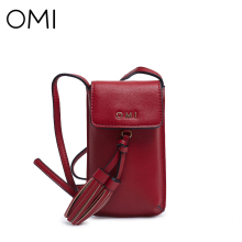 OMI Women's Messenger bags Women bag Lady's handbags Mini leather Shoulder bag Phone pouch luxury handbags women bags designer