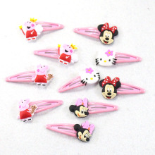 10 pcs/set 2017 Fashion Girls Hair Clips Hello kitty Cartoon Barrette 5cm BB Hairpins Children Hair Accessories(China)