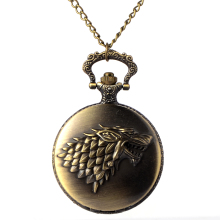 2017 Antique Game of Thrones Design Quartz Pocket Watch Unique Gifts Unisex sport Fob digital Clock P20(China)