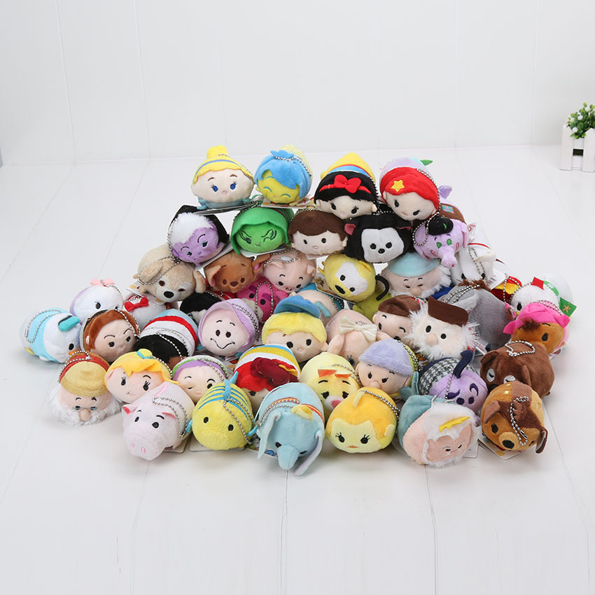 7-9cm Tsum Tsum Plush doll Duck toys Cute doll Screen Cleaner Mermaid min toy inside out keychain plush toy(China (Mainland))