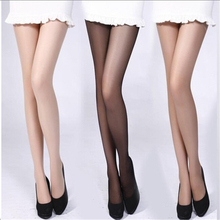Women 4 Colors Girl Slik Stocking Legs High Hosiery Tights Pantyhose Sexy Nylon Spandex Lady Transparent Thin Female Stockings(China)