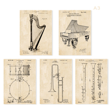 Vintage patent art instrument G1  poster sets  5 in 1  Nursery Plane Wall Art classic aircraft