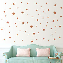 New Qualified Fashion Stars Wall Stickers Kids Baby Room DIY Wall Art Home Decor Sticker adesivo de parede Dropship Nov7(China)