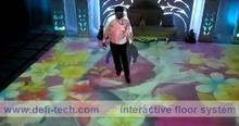 130 effectives Interactive floor projection system ,