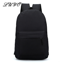 Direct Selling Solid Color Women Fashion Canvas Backpack Youth Male School Bags Teenage Girls Teenagers Mochila Feminina - luyo Official Store store