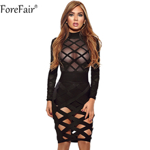 Buy ForeFair 2018 New Cut Perspective Mesh Club Party Dresses Plus Size Long Sleeve Midi Bodycon Sexy Dress Women for $13.99 in AliExpress store