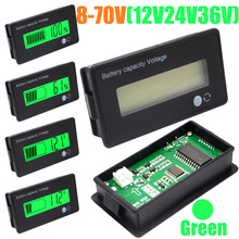 12V 24V 36V 48V New LCD Acid Lead Lithium Battery Capacity Indicator Digital Voltmeter Voltage Tester Free Shipping 10000869_G