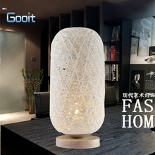 Fashion Table Lamp Modern Rattan Line Wood Eyeshield Desk Lamp For Home Bedroom Living Room Decoration Bedside Lamp(China)