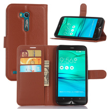 For ASUS ZenFone Go TV ZB551KL Case Pu Leather Wallet Card Slot Flip Stand Cover & Soft TPU Frame Phone Skin Shell + Track Code(China)