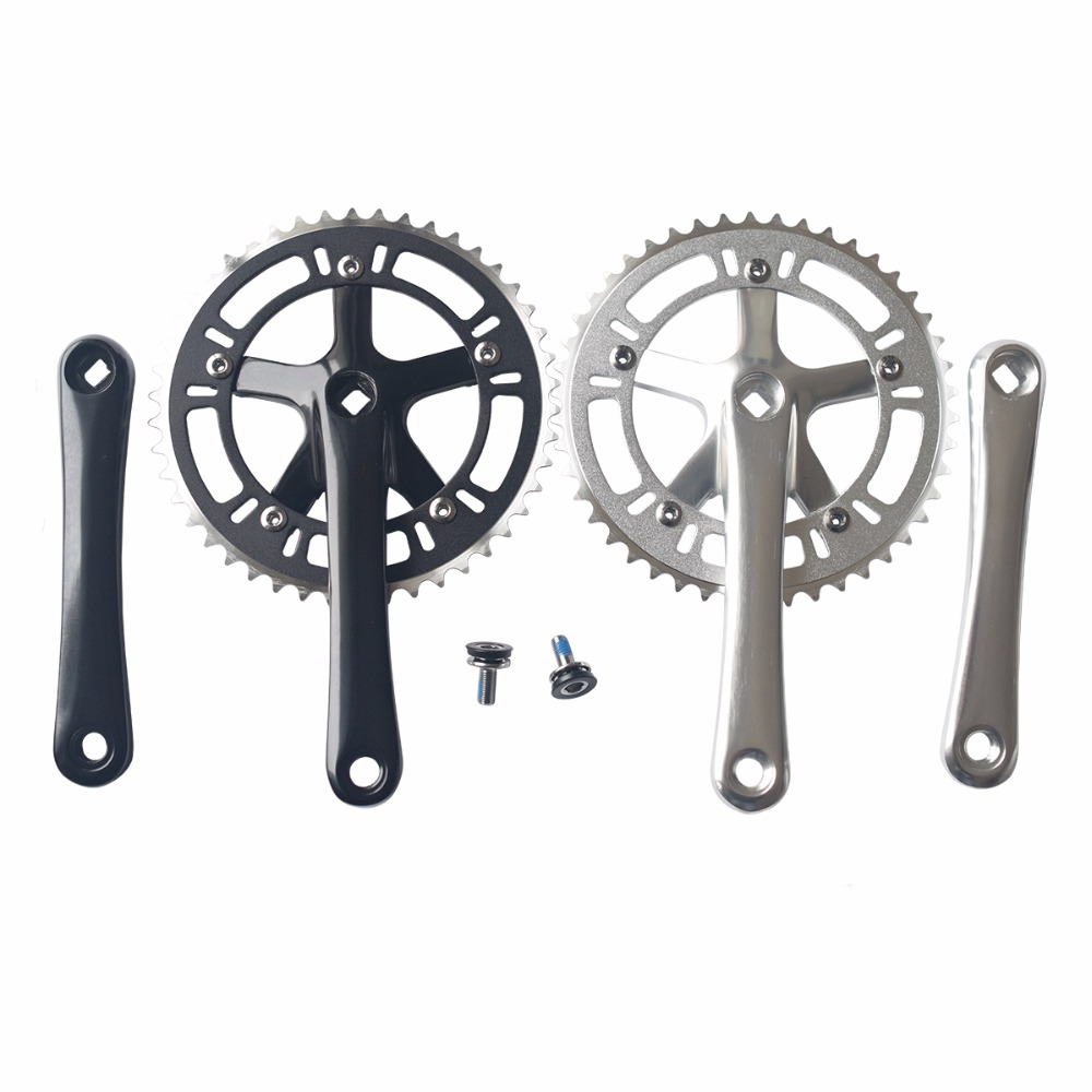 PROWHEEL Single speed Bike Square Hole Cranksets 44T 170mm Track Fixed Gear