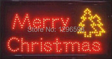 2017 New Time-limited Graphics semi-outdoor 15mm 15.5X27.5 inch Ultra Bright merry christmas LED lighted sign