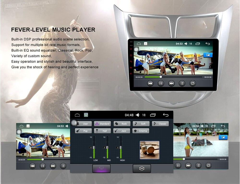 Quad Core 1024600 Android 6.0 Car DVD GPS Player For Solaris Verna Accent Car PC Headunit Car Radio Video Player Navigation verna