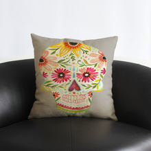 skull Decorative cushion Pillow Case Cover Square Linen Cotton couch Pillowcase Living room Bedroom sets cushions pillows