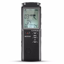 Portable 8GB LCD Digital Audio Voice Recorder Dictaphone Rechargeable MP3 Player With Earphone Built-in Microphone