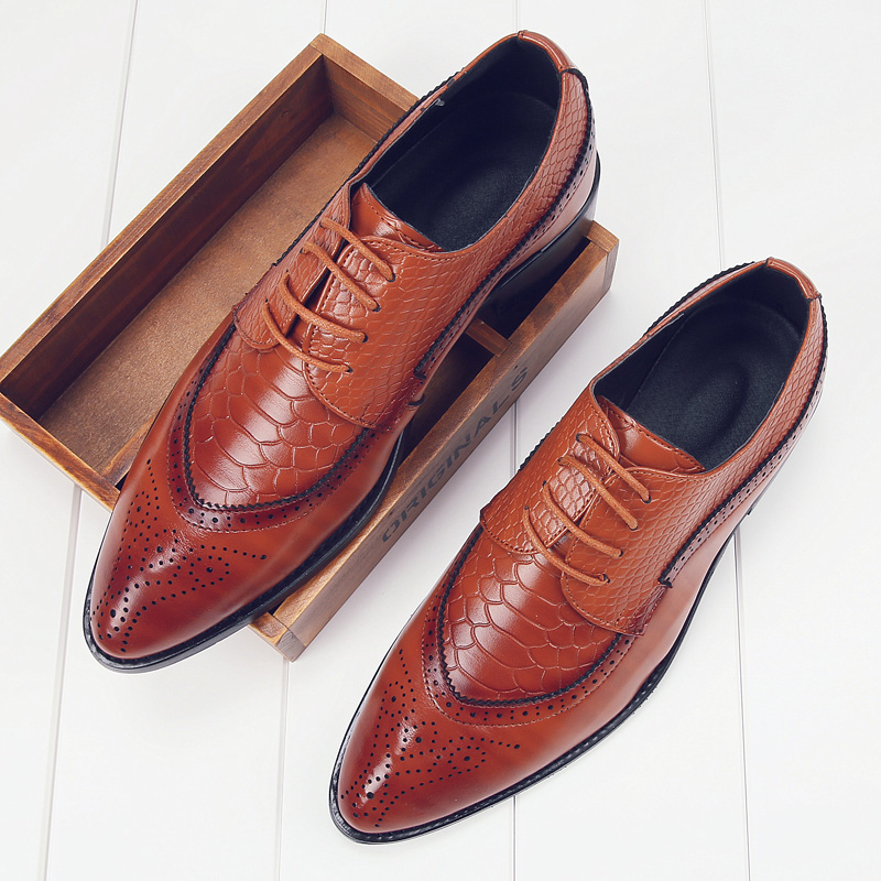 european men dress shoes 2017 brogue oxford  italian leather man shoes luxury brand formal footwear male office shoes for men (14)