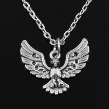 new fashion eagle hawk Pendants round cross chain short long Mens Womens silver necklace Jewelry Gift(China)