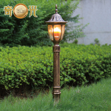 H77CM black/bronze garden lamp post lighting outdoor post light path street lamp die-casting aluminum fitting for europe(China)